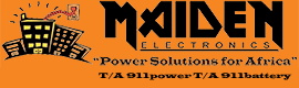 Maiden Electronics, Suppliers of UPS's, Inverters, Solar Systems, Batteries & Car Battery Fitment