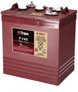 Picture of Trojan T145 6V 260Ah Deep Cycle Golf Cart Battery